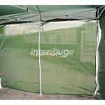 INTEROUGE Bâches latérales 4 côtés pour tente tonnelle pliante ECON; toile en polyester 180g/m²; 3 x 3 m; Blanc de la marque Interouge TOP 2 image 1 produit