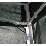 INTEROUGE Bâches latérales 4 côtés pour tente tonnelle pliante ECON; toile en polyester 180g/m²; 3 x 3 m; Blanc de la marque Interouge TOP 2 image 2 produit