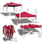 JOM 127097 Barnum de jardin, pliable, 3 x 3 m, rouge de la marque JOM TOP 1 image 1 produit