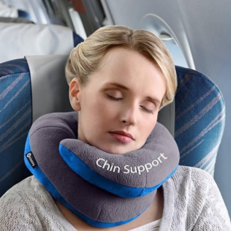 Oreiller de voyage BCOZZY avec support pour le menton – soutient la tête, le cou et le menton pour un maximum de confort en position assise. Produit breveté. (G TOP 6 image 0 produit