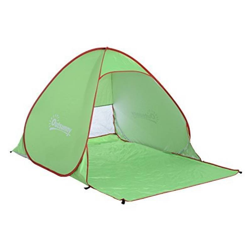 Outsunny Tente Abri de Plage Portable Hydrofuge Anti-UV avec Sac de Transport 2 x 1.5 x 1.15m Vert de la marque Outsunny TOP 2 image 0 produit