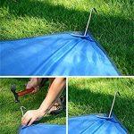 Pluie Tarp Diwuer Hamac étanche Coque Tente Tapis Couverture de pique-nique avec réfléchissant Corde et Piquets pour le camping Beach (3x 3m) de la marque DIW TOP 7 image 3 produit