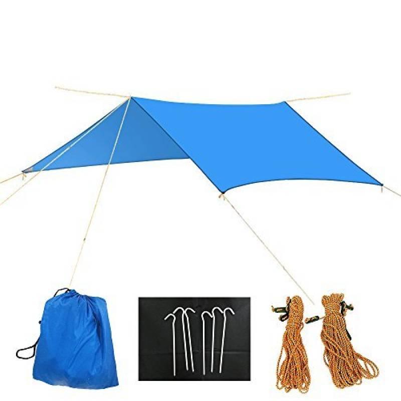 Pluie Tarp Diwuer Hamac étanche Coque Tente Tapis Couverture de pique-nique avec réfléchissant Corde et Piquets pour le camping Beach (3x 3m) de la marque DIW TOP 7 image 0 produit