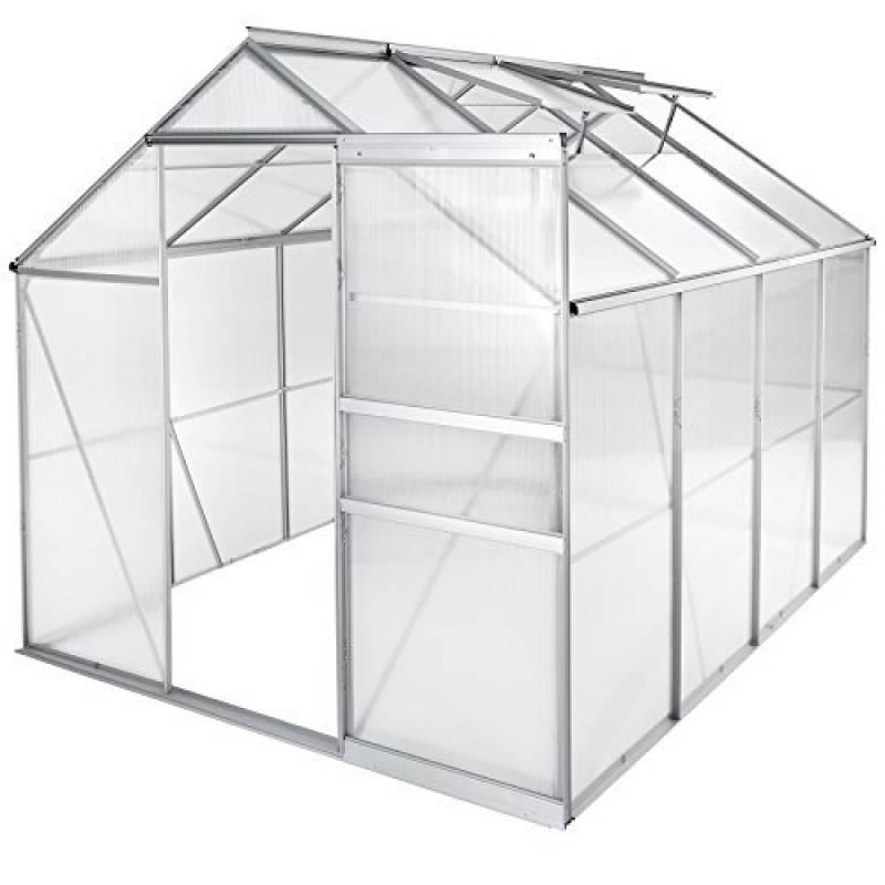 TecTake Serre de jardin et polycarbonate alu tente abri plante jardinage - diverses modèles - (250x185x195 cm sans base | no. 402476) de la marque TecTake TOP 8 image 0 produit