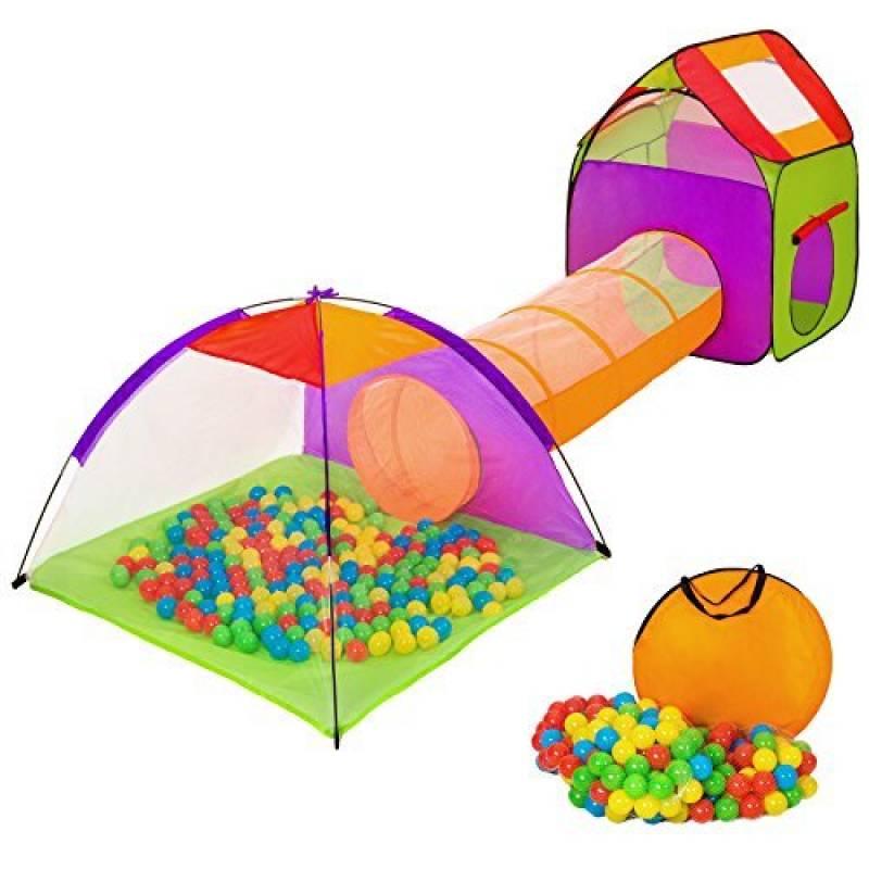 TecTake Tente igloo pour enfants avec tunnel + 200 balles + sac - tente de jeu - diverses couleurs au choix - de la marque TecTake TOP 10 image 0 produit
