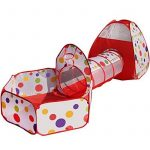 Truedays Tente de Jeu pour Enfants Maison et Tunnel Tente igloo Pop Up Tunnel Tente Piscine à boules avec tunnel Maison de Jouet et Piscine Facile Pliant (Modèl TOP 3 image 0 produit