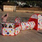 Truedays Tente de Jeu pour Enfants Maison et Tunnel Tente igloo Pop Up Tunnel Tente Piscine à boules avec tunnel Maison de Jouet et Piscine Facile Pliant (Modèl TOP 3 image 2 produit