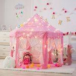 DeceStar Mignon Princesse Rose Castle Enfants Playhouse Indoor, Vient avec la lumière de la marque DeceStar TOP 8 image 2 produit