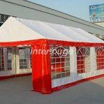 INTEROUGE Tente de reception 3 x 6 m en acier 38mm galvanise a chaud et PVC 480g/m carer Tonnelle Barnum Chapiteau Blanc de la marque Interouge TOP 4 image 2 produit