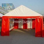 INTEROUGE Tente de reception 3 x 6 m en acier 38mm galvanise a chaud et PVC 480g/m carer Tonnelle Barnum Chapiteau Blanc de la marque Interouge TOP 4 image 3 produit