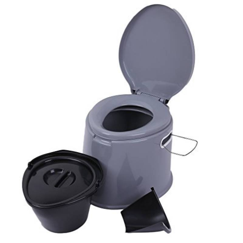 Magicpeony 5L léger et portable pour camping randonnée WC, compact, Solution de déchets pour une utilisation en intérieur et en extérieur Loo Camping Caravane p TOP 7 image 0 produit