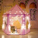 [Nouveau design] ODOLAND Château princesse Tente de Jeu lecture Maison de Jardin Rose ronde Enchantée plaisir cadeau parfait Jouet adorable anti- moustique dura TOP 9 image 2 produit