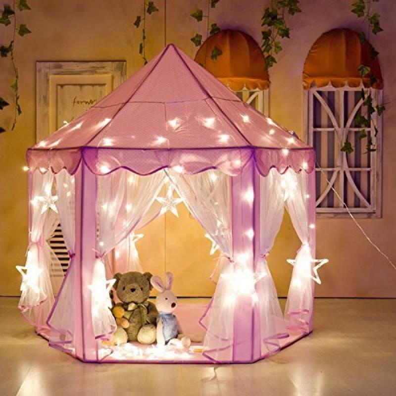 ebc6ba90624af6 ... Château princesse Tente de Jeu lecture Maison de Jardin Rose ronde.  Note tente et moi