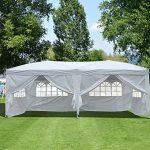 Outsunny Tonnelle Pliante Tente de Réception Barnum Chapiteau Pavillon Imperméable avec Sac de Transport 6 x 3 x 2.55m Blanc de la marque Homcom TOP 3 image 0 produit