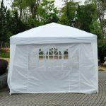 Outsunny Tonnelle Pliante Tente de Réception Barnum Chapiteau Pavillon Imperméable avec Sac de Transport 6 x 3 x 2.55m Blanc de la marque Homcom TOP 3 image 2 produit