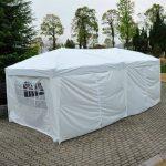 Outsunny Tonnelle Pliante Tente de Réception Barnum Chapiteau Pavillon Imperméable avec Sac de Transport 6 x 3 x 2.55m Blanc de la marque Homcom TOP 3 image 3 produit