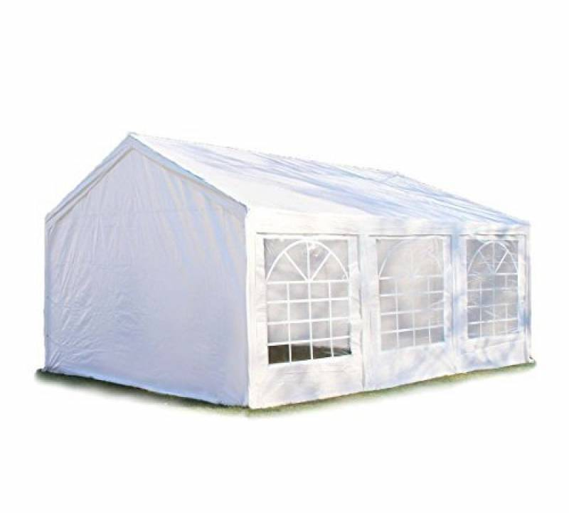 Tente de réception 3x6 m, toile de haute qualité 240g/m² PE blanc construction en acier galvanisé avec raccordement par vissage de la marque INTENT24 TOP 2 image 0 produit