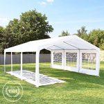 Tente de réception 3x6 m, toile de haute qualité 240g/m² PE blanc construction en acier galvanisé avec raccordement par vissage de la marque INTENT24 TOP 2 image 1 produit