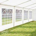 Tente de réception 3x6 m, toile de haute qualité 240g/m² PE blanc construction en acier galvanisé avec raccordement par vissage de la marque INTENT24 TOP 2 image 2 produit