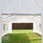 Tente de réception 3x6 m, toile de haute qualité 240g/m² PE blanc construction en acier galvanisé avec raccordement par vissage de la marque INTENT24 TOP 2 image 4 produit
