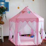 Tente pour enfants, tente Princess Castle Play, Tentes Kids Nook pour usage intérieur et extérieur, étui de transport, Tente de jeu pour enfants Château de Prin TOP 4 image 1 produit