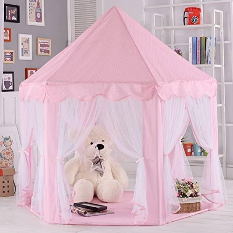 Tente pour enfants, tente Princess Castle Play, Tentes Kids Nook pour usage intérieur et extérieur, étui de transport, Tente de jeu pour enfants Château de Prin TOP 4 image 0 produit
