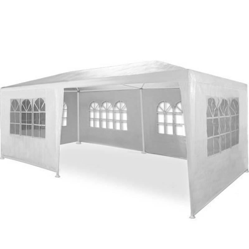 Tonnelle Rimini Blanc 3x6m - 2,5m hauteur - Barnum tente de jardin Pavillon de la marque Deuba TOP 7 image 0 produit