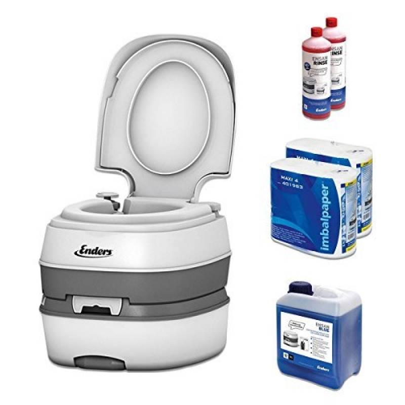 WC chimique portable pour camping, kit de démarrage Enders Blue 5,0 Deluxe avec produit additif et papier hygiénique - toilette chimique de la marque Enders TOP 2 image 0 produit