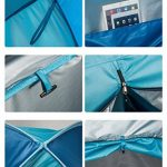 YANGYANJING Exterieure 2–3 personnes rapide Tente pop-up automatique léger étanche Portable Cabana Beach Abri Soleil Pare-soleil avec fermeture à glissière Port TOP 2 image 1 produit