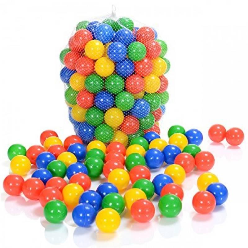 100 Pièces balles colorées plastique de piscine pour enfants et bébé de 1 mois d'âge (selon TÜV Rheinland Test Report novembre 2016) de la marque LCP Kids® TOP 4 image 0 produit