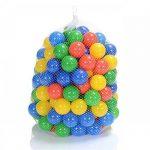 100 Pièces balles colorées plastique de piscine pour enfants et bébé de 1 mois d'âge (selon TÜV Rheinland Test Report novembre 2016) de la marque LCP Kids® TOP 4 image 1 produit