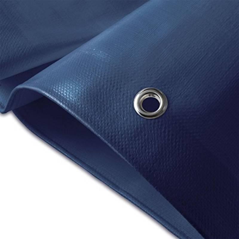 Bâche de protection casa pura® en polyéthylène | haute densité 260g/m² | 100% imperméable à l'eau et aux UV | bleu - env. 3x4m de la marque casa pura TOP 9 image 0 produit