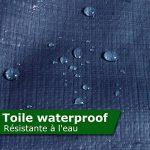 Bâche de protection casa pura® en polyéthylène | haute densité 260g/m² | 100% imperméable à l'eau et aux UV | bleu - env. 3x4m de la marque casa pura TOP 9 image 3 produit