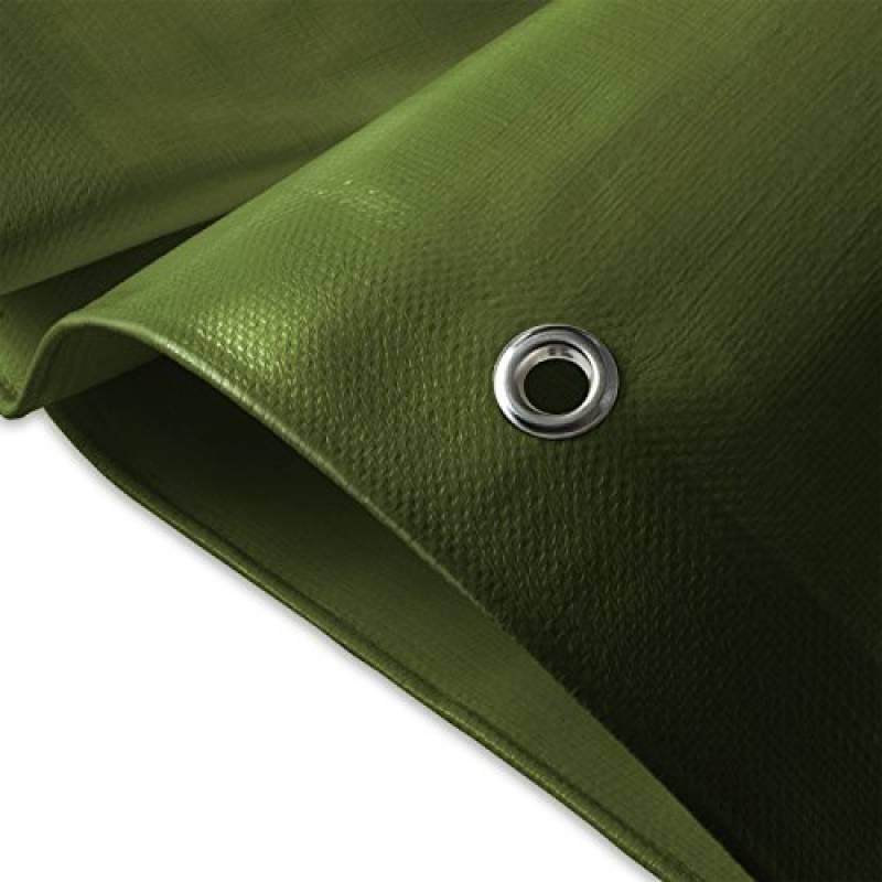 Bâche de protection casa pura® en polyéthylène | haute densité 260g/m² | 100% imperméable à l'eau et aux UV | bleu-vert - env. 3x4m de la marque casa pura TOP 2 image 0 produit