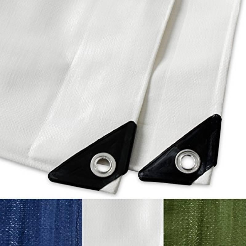 Bache impermeable etm® avec oeillet | protection extérieur | résistant à l'eau et aux UV | haute densité 180g/m² | blanc - env. 3x5m de la marque etm TOP 7 image 0 produit