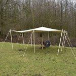 Haute Qualité Tente Bâche d'/ Voile pare-soleil avec pattes, 250g/m² Naturel Bâche indéchirable LARP différentes tailles de la marque Battle Merchant TOP 10 image 0 produit