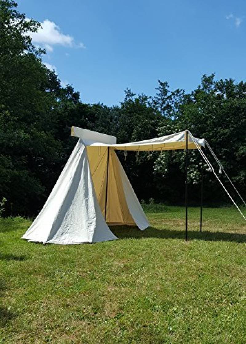 Historique Saxon revendeur Tente 4x 2,5m, naturel, 425gsm Ritter Tente Roulement LARP médiéval viking de la marque Battle Merchant TOP 3 image 0 produit