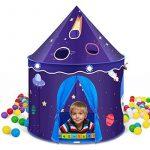 INTEY Tente Portable Château de Prince ou Princesse Pliable Tente de Jeu Pop Up Jardin Plage pour enfant(VIOLET) de la marque INTEY TOP 7 image 0 produit