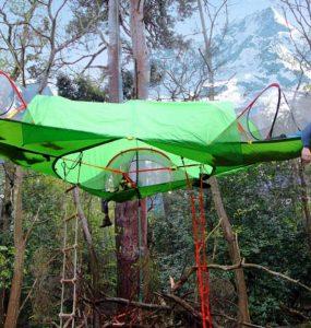 La tente arbre connue pour son originalité principale
