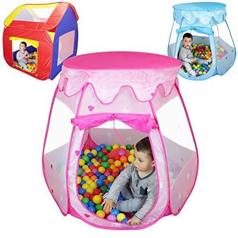 Monsieur Bébé ® Tente de jeu enfants pliable + 200 balles et sac de rangement - Trois modèles - Normes CE de la marque Monsieur Bébé TOP 14 image 0 produit