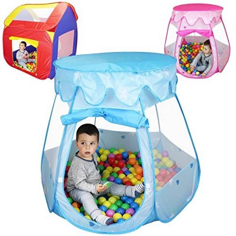 Monsieur Bébé ® Tente de jeu enfants pliable + 200 balles et sac de rangement - Trois modèles - Normes CE de la marque Monsieur Bébé TOP 9 image 0 produit