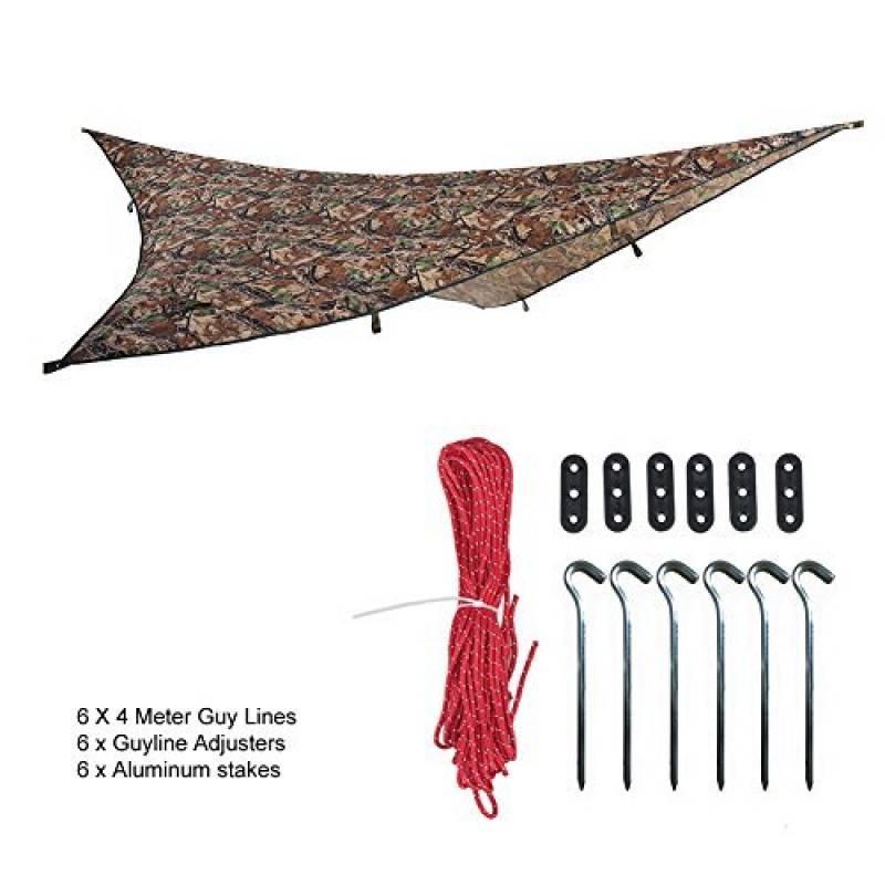 OneTigris Tarp Camouflage De Tente Imperméable Léger Bâche Polyvalente Robuste 2.7m*2.7m Pour Camping Randonnée Voyage de la marque OneTigris TOP 6 image 0 produit