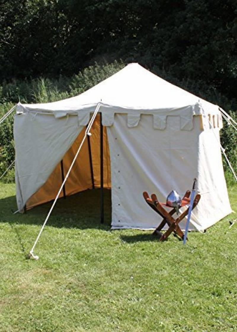 Palazzo24Moyen-âge Tente Ritter Herold, 3x 3m Tente Roulement LARP Ritter médiéval viking couleurs assorties de la marque Battle Merchant TOP 12 image 0 produit