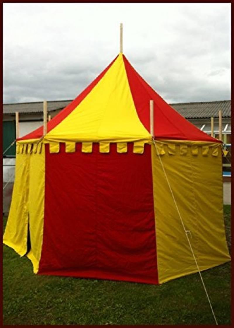 Palazzo24ronde Moyen-âge Tente herwald, 3m de diamètre Ritter LARP Roulement Tente médiéval viking couleurs assorties de la marque Battle Merchant TOP 7 image 0 produit