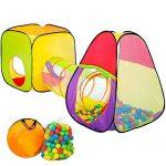 TecTake Tente cubique pour enfants avec tunnel + 200 balles + sac - tente de jeu de la marque TecTake TOP 5 image 0 produit