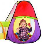 TecTake Tente cubique pour enfants avec tunnel + 200 balles + sac - tente de jeu de la marque TecTake TOP 5 image 1 produit