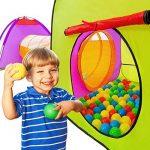 TecTake Tente igloo pour enfants avec tunnel + 200 balles + sac - tente de jeu - diverses couleurs au choix - de la marque TecTake TOP 11 image 1 produit