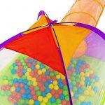 TecTake Tente igloo pour enfants avec tunnel + 200 balles + sac - tente de jeu - diverses couleurs au choix - de la marque TecTake TOP 11 image 2 produit