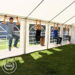 Tente Barnum de Réception 4x8 m ECONOMY Bâches Amovibles PVC 500 g/m² blanc / Jardin Tonnelle Pavillon Chapiteau de la marque INTENT24 TOP 8 image 1 produit