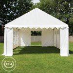Tente Barnum de Réception 4x8 m ECONOMY Bâches Amovibles PVC 500 g/m² blanc / Jardin Tonnelle Pavillon Chapiteau de la marque INTENT24 TOP 8 image 2 produit